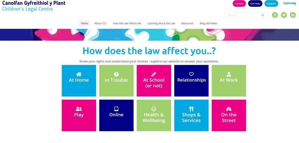 Launching a bilingual website for the Children's Legal Centre Wales