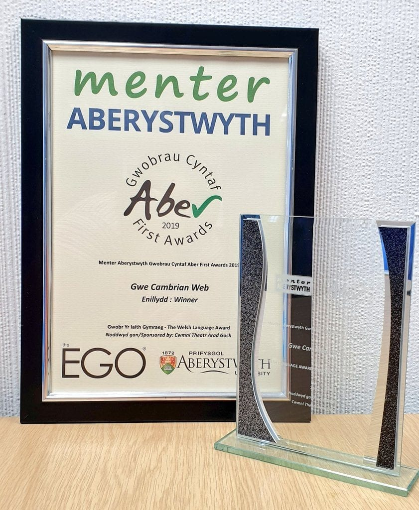Welsh Language Award 2019!