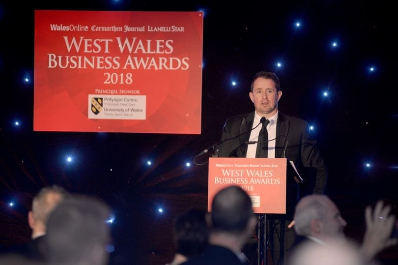 Finalists at the West Wales Business Awards 2019