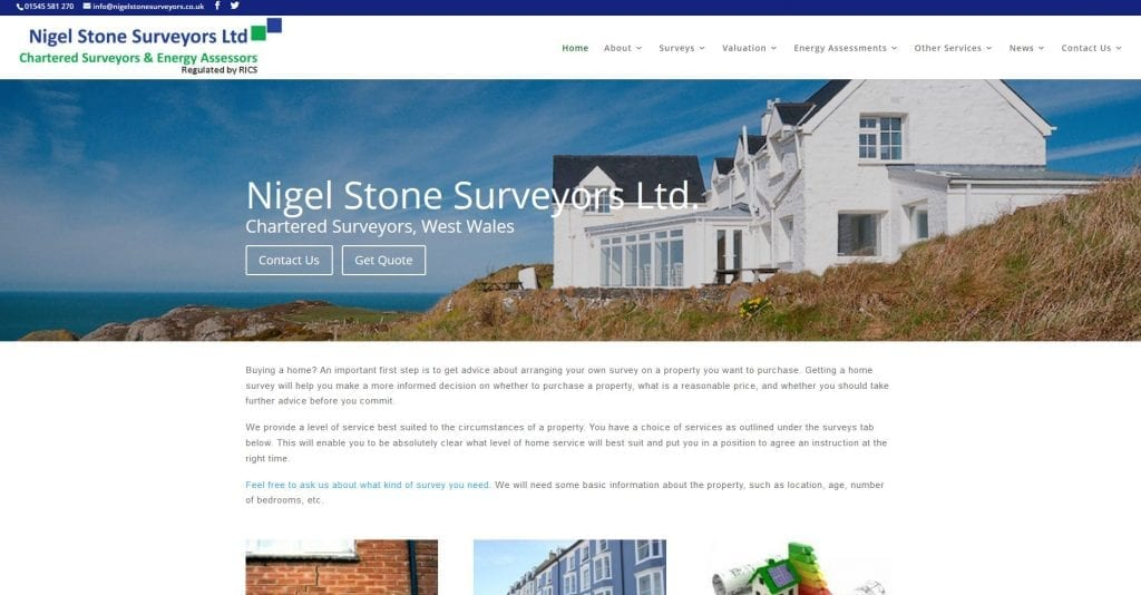 New Website Launched for Nigel Stone Surveyors