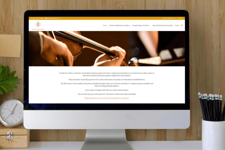 Smallscores Website Launch