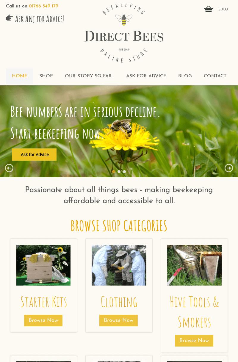 Lansio Gwefan Newydd Direct Bees
