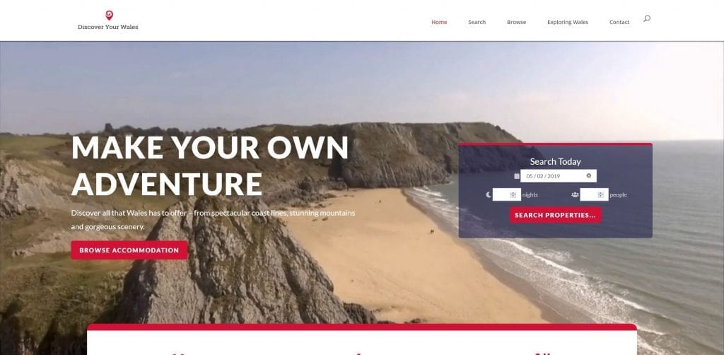 Discover Your Wales – Holiday Agency