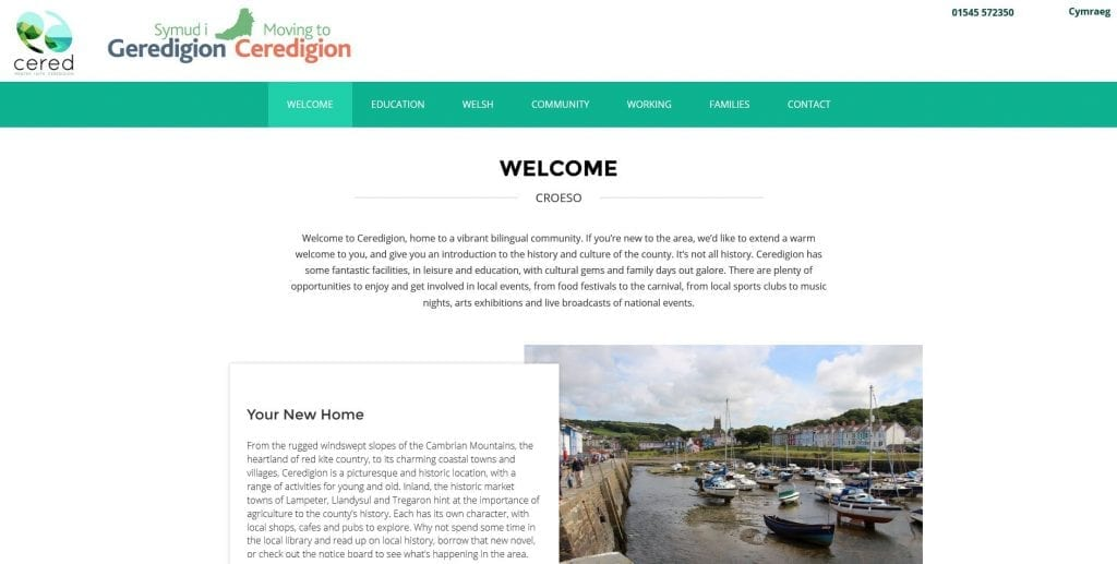 Moving to Ceredigion – CERED